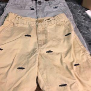 2 pr boys Gymboree shorts sharks & trucks size 5